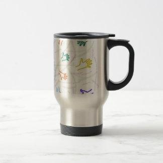 Hand Prints Stainless Steel Travel Mug