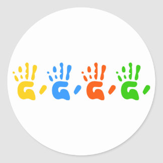 Hand Prints Stickers