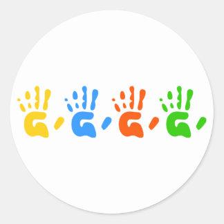 Hand Prints Stickers