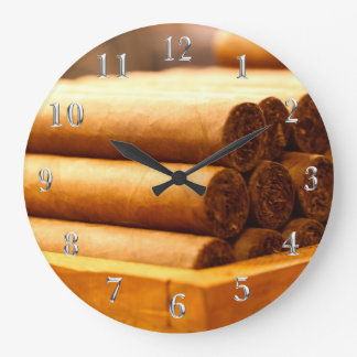 Hand Rolled Cigars La Romana DR. Silver Numbers Wall Clocks