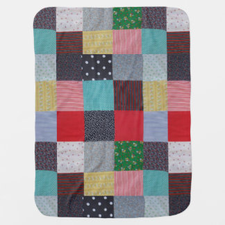hand sewn fabric patchwork colourful traditional buggy blanket