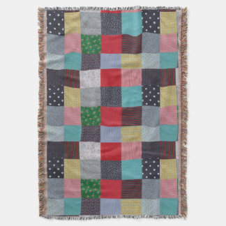 hand sewn fabric patchwork colourful traditional