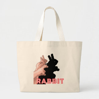 HAND SHADOW RABBIT TOTE BAGS