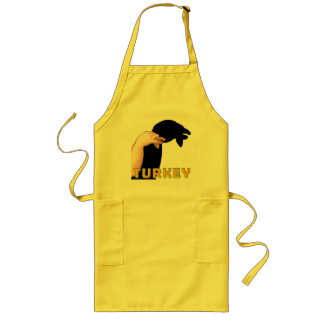 HAND SHADOW TURKEY LONG APRON
