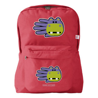 Hand Shaped Purple Hippo Backpack
