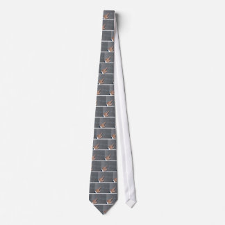 Hand showing concept on copy space template tie