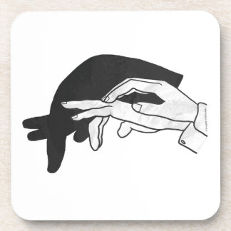 Hand Silhouette Anteater Coaster