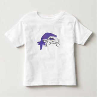 Hand Silhouette Anteater Purple Toddler T-Shirt