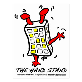 Hand Stand Building Postcard