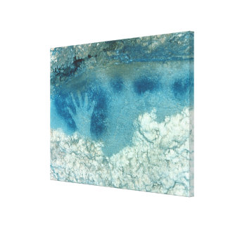 Hand stencil, from upper section of the Spotted Ho Canvas Print