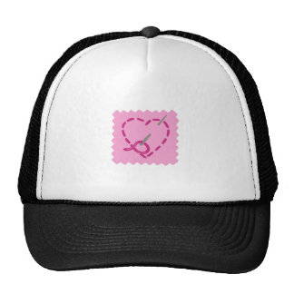 HAND STITCHED HEART HAT