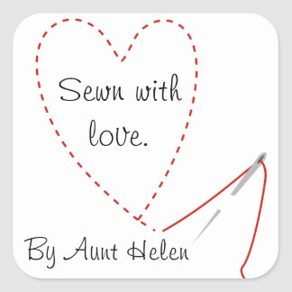 Hand Stitched Heart Sticker