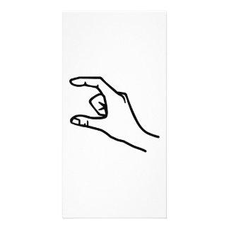 Hand symbol photo card template