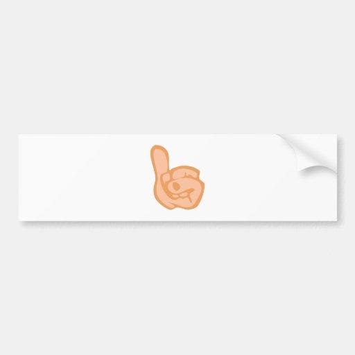 Hand thumb thumb bumper stickers