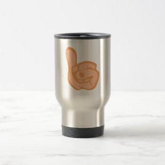 Hand thumb thumb coffee mug
