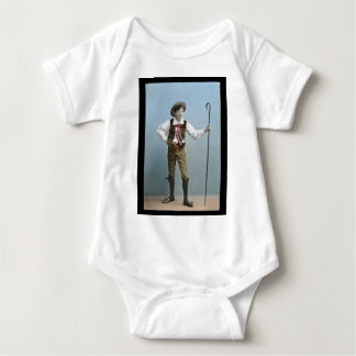Hand Tinted Lantern Slide Boy From Alps Vintage T Shirts