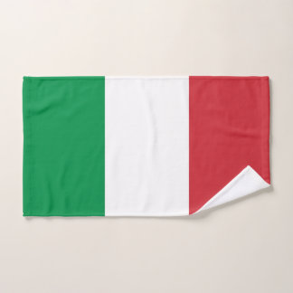 Hand Towel with Flag of Italy