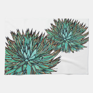 Hand Towels - Spiky Green Agave