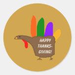 Hand Turkey - Thanksgiving stickers