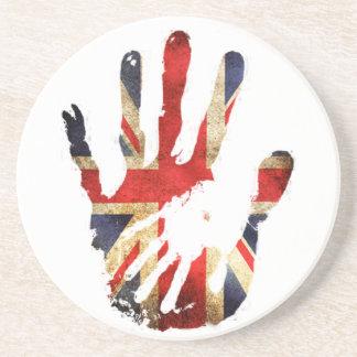 Hand union jack england flag coaster