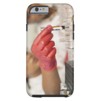 Hand with test tubes tough iPhone 6 case