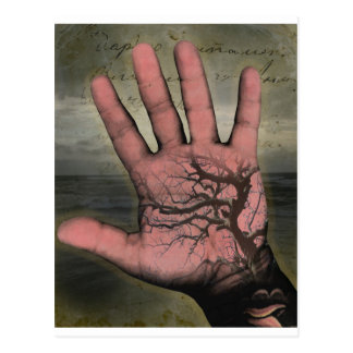 Hand with Tree Postcard