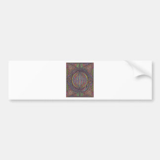 Hand Woven Design Bumper Sticker