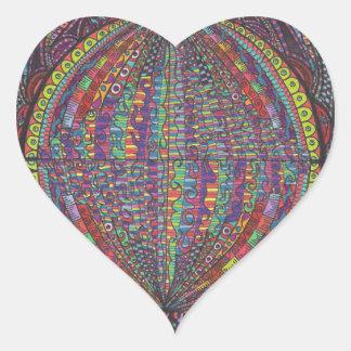 Hand Woven Design Heart Sticker