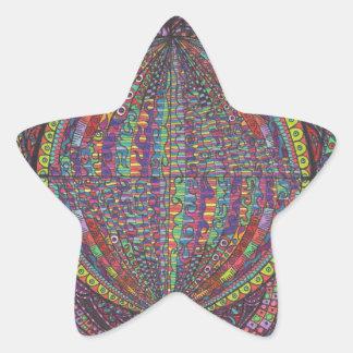 Hand Woven Design Star Sticker