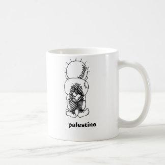 handalah, palestine basic white mug