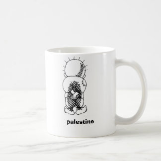 handalah, palestine classic white coffee mug