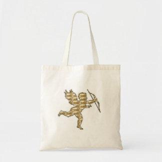 Handbag Cupid Gold Ribbed Bag