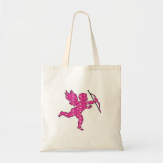 Handbag Cupid Pink Glitter Canvas Bags