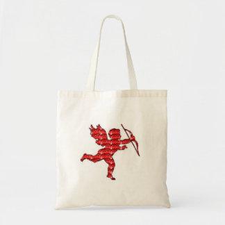 Handbag Cupid Red Glitter Tote Bag