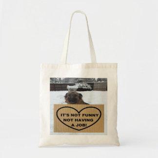 Handbag German Shepherd It's Not Funny No Job Budget Tote Bag