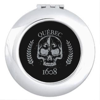 Handbag mirror Quebec Skull/skull biker grunge Mirror For Makeup
