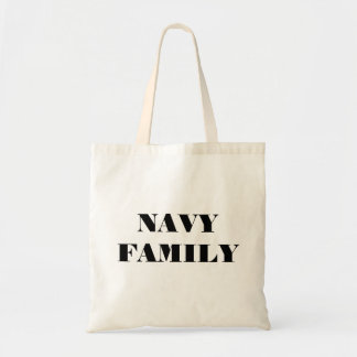 Handbag Navy Family Budget Tote Bag