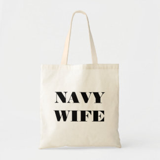 Handbag Navy Wife Budget Tote Bag