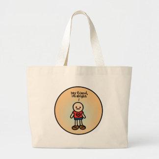 handbag of happiness. jumbo tote bag