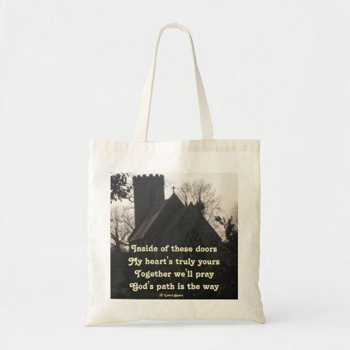 Handbag Poem Ode To Pray By Ladee Basset Tote Bags