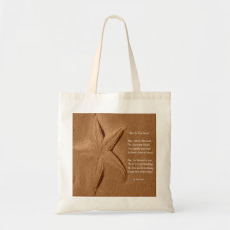 Handbag Poem Star In The Sand By Ladee Basset Budget Tote Bag