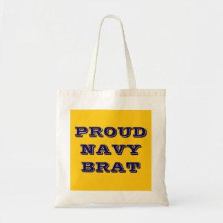 Handbag Proud Navy Brat Canvas Bag