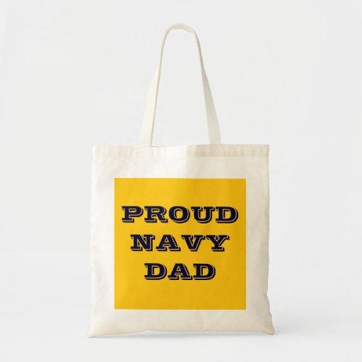 Handbag Proud Navy Dad Canvas Bags