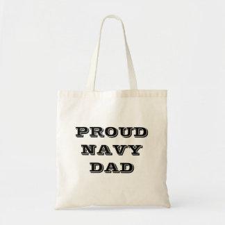 Handbag Proud Navy Dad Budget Tote Bag