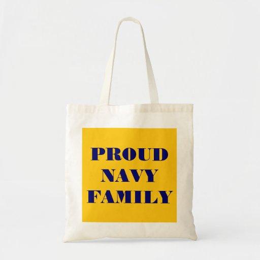 Handbag Proud Navy Family Canvas Bag