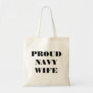 Handbag Proud Navy Wife Canvas Bag