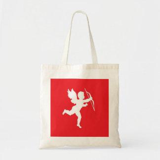 Handbag White Cupid On Red
