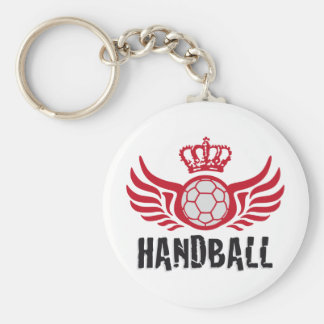 Handball Basic Round Button Key Ring