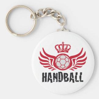 Handball Basic Round Button Key Ring