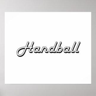 Handball Classic Retro Design Poster